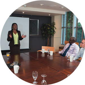 Monica Beckles presents to the CRX group